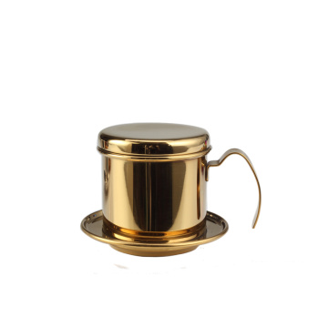 Champagne Gold StainlessSteel VietnameseCoffee Maker