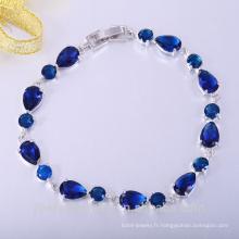 bijoux de mode de printemps rond bleu zicon cubique cusomed bijoux