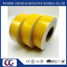 Pegatinas reflexivas autoadhesivas de la seguridad del PVC amarillo claro de la alta visibilidad