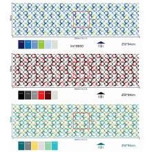 Tela de colchón en rollos de poliéster impreso textil