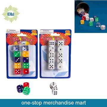 Dollar Items of 10pc Plastic Dice Set