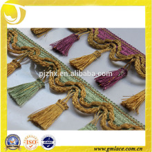 Franja de la borla común para los vestidos y la decoración casera