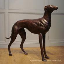 Statues populaires de chien de lévrier de bronze de conception avec 17 ans de fonderie