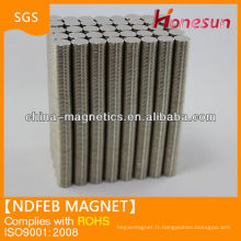 Prix de fabricant aimant ndfeb Chine d'anneau N35 Ni 10mmx1mm