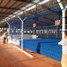 PVC coated and galvanized metal security fence