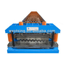 Floor deck machine,roll forming machine, deck machine