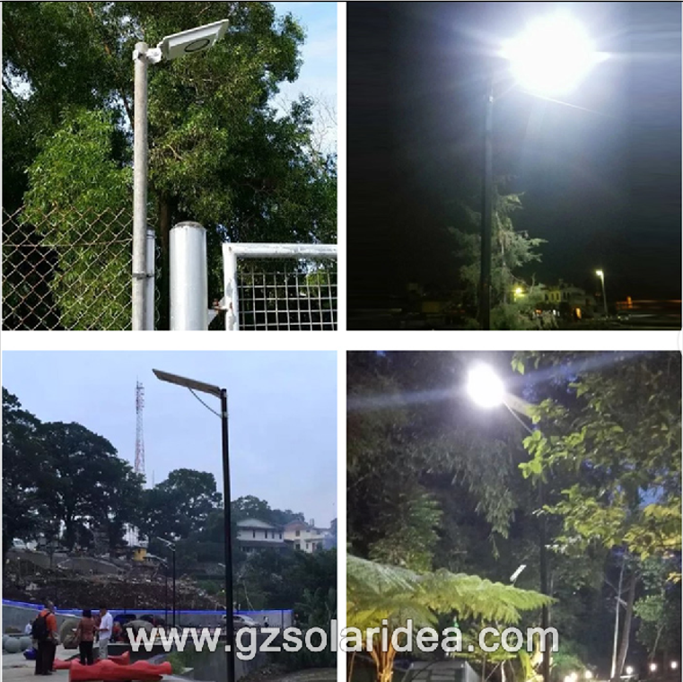 Precio de fábrica Powered 50W Solar Panel Street Light