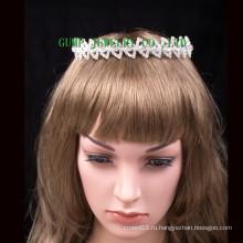 Простой дизайн головных уборов Мини Cute Кристалл Tiara Rhinestone короны