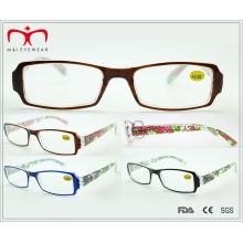 Дамы пластиковые цветочные очки чтения (WRP509389)