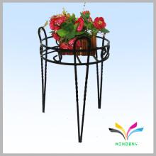 Kundenspezifische 3 Halter Bodenart schmiedeeiserner Blumenständer