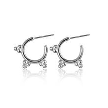 Diseño de moda 925 Sun Silver Hoop Earrings Jewelry