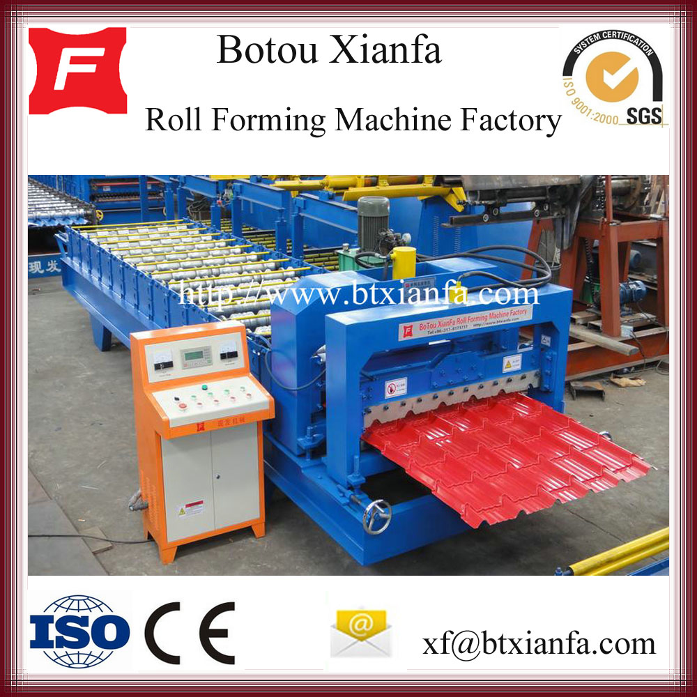 Steel Tile Metal Roof Roll Forming Machine China Manufacturer