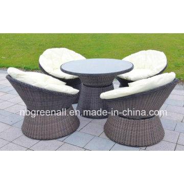 Rattan al aire libre / mimbre Cómoda cafetera Muebles de jardín