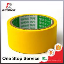 Свободный образец может быть таможней напечатанной желтый для маскировки PVC Предупреждающая обнаруженная Предупреждающая лента, Маркировочная лента пола