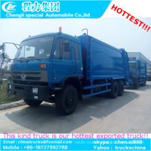 Exportado a camión de colección de basura de Ghana compactador DFAC compresión 6 X 4