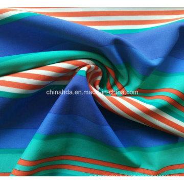Полосы белый синий зеленый красный печать ткань для спортивной одежды (HD1401116)