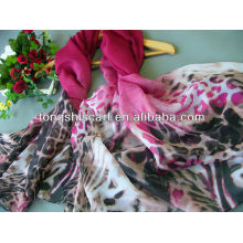 2013 fashion polyester scarf with jewelry