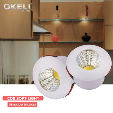 OKELI easy mounted aluminum indoor fixtures smart office round 1W home led lights downlight