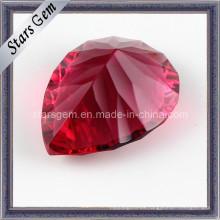 Hermosa forma de pera de corte del milenio Ruby para la joyería