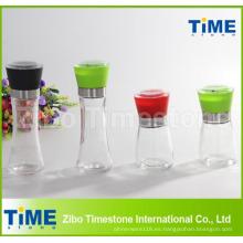 Botella de vidrio con tapa de ABS Botella de molino de pimienta (TM918)