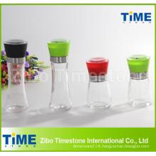 ABS Lid Glass Bottle Pepper Grinder Mill (TM918)