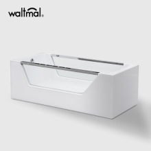 Eaton Acrylic Bathtub dengan Dua Tempered Side Kaca