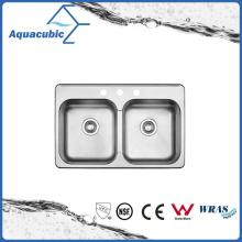 El acero inoxidable caliente de la venta modificó el fregadero de la cocina (ACS8052AM)