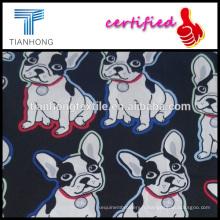 amis de l'homme comics mignon chien 60 s sensation soie hleathy tissu en coton pour les vêtements de l'enfant