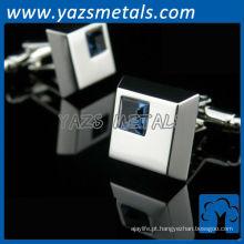 faça abotoaduras personalizadas com liga de zinco