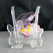 2014 nouveau produit cristal instrument de musique en verre pour la décoration de mariage ou des souvenirs de cadeau