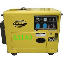 6kVA tipo silencioso refrigerado a ar gerador diesel portátil