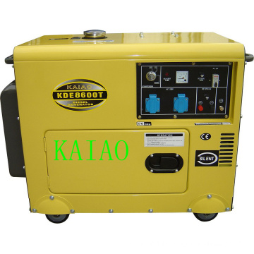 6kVA Silent Type Air-Cooled Portable Diesel Generator