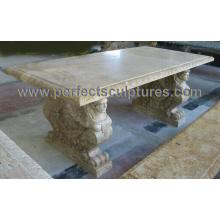 Jardim cadeira de mesa de mármore de pedra para móveis de jardim (qtb048)