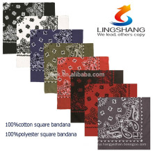 LINGSHANG wholesale custom printed handkerchiefs,headwear for baby,cotton bandana