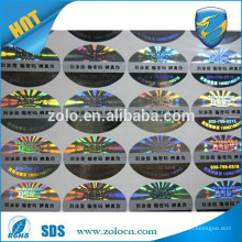 ZO LO factory price and hot selling scratch off sticker, t-shirt printing sticker