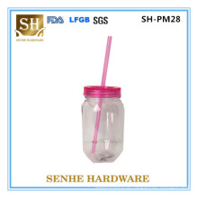 530ml Doppelwand-Plastikglas-Maurer-Glas