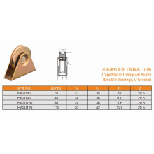 Double Bearings Trapezoidal Triangular Pulley with U Groove