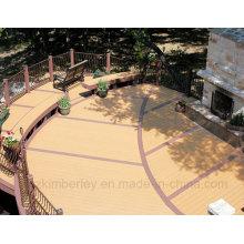 Chine Fournisseur Anti-UV Bois Plastique Composite Solid WPC Decking Laminate Flooring