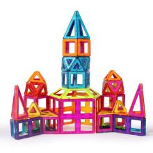 Venta caliente juguetes plástico magnético bloques construcción de juguetes para niños juguete de plástico grandes bloques de edificio