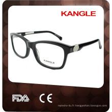 Métal décoration Hommes acétate lunettes, nouvelle forme acétate optique cadres pour 2017