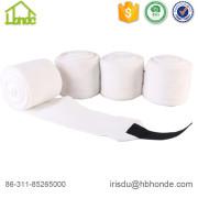 Soft White Polar Fleece Horse Bandage