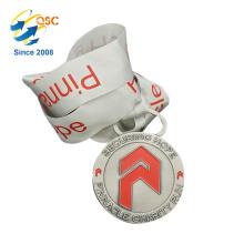 Medalhas feitas sob encomenda feitas sob encomenda baratas personalizadas da competição da fita feita sob encomenda do pescoço da medalha