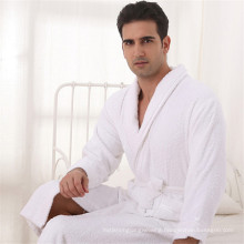 Anti-Bacterial Fabulously Soft White Bathrobe Set (WSB-2016026)