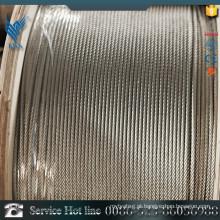 AISI Padrão 316 fio de aço inoxidável Corda 7X19
