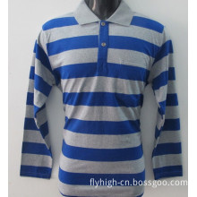 Autumn Long Sleeve Striped Polo T-Shirts