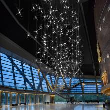 Подгонянный светодиодный подвесной светильник со звездой большого торгового центра