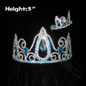 3inch Blue Diamond Pageant Queen Crowns
