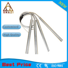 cartridge heater resistance with stainless steel armoured cable