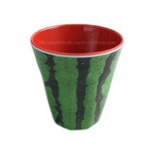 Zwei Ton Melamin Tassen mit Wassermelonen Design