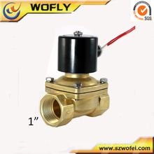 "1/4"" Shut off double coil 24VDC brass liquid solenoid valve"